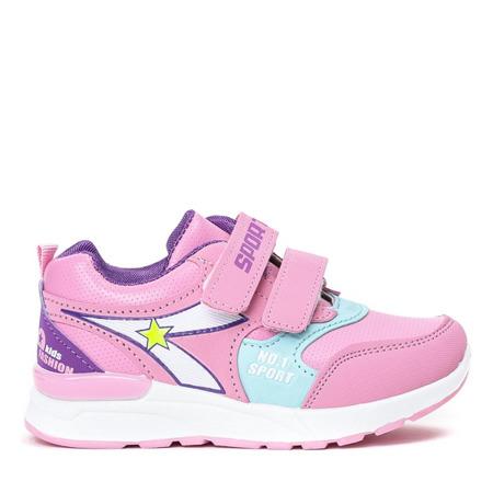 Różowe sportowe dziewczęce buty Mughetto - Obuwie