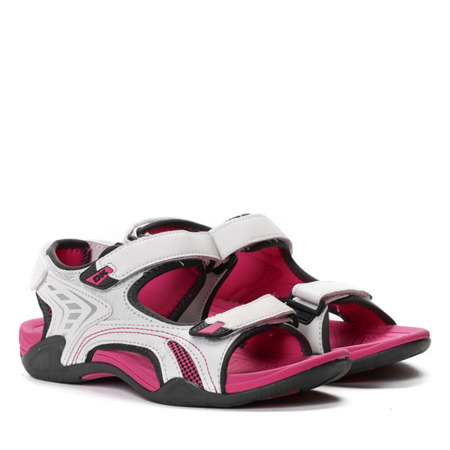 Różowo-białe sportowe sandały Yaretzi- Obuwie