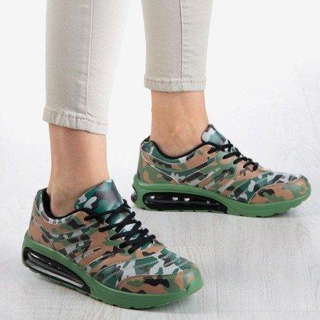 Sportowe buty damskie w moro Thalassa - Obuwie