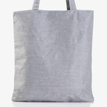 Szara damska torba z printem - Torebki