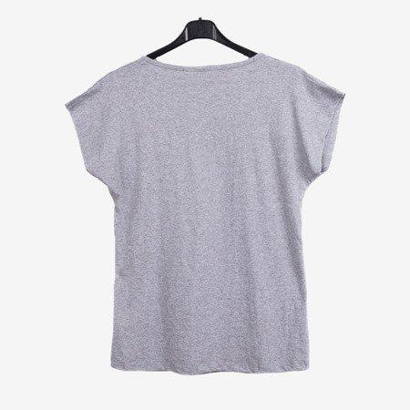 Szara koszulka z krótkim rękawem - Odzież