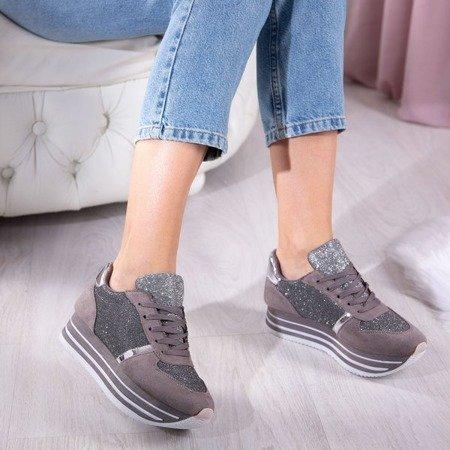 Szare buty sportowe Karin Obuwie