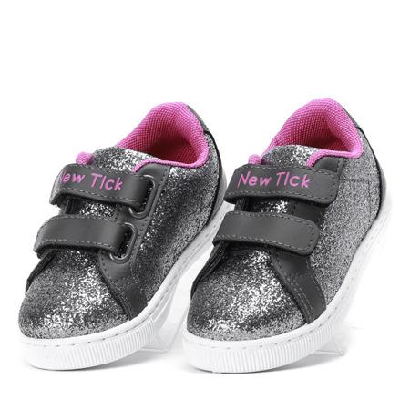 Szare dziecięce buty sportowe Lumila - Obuwie