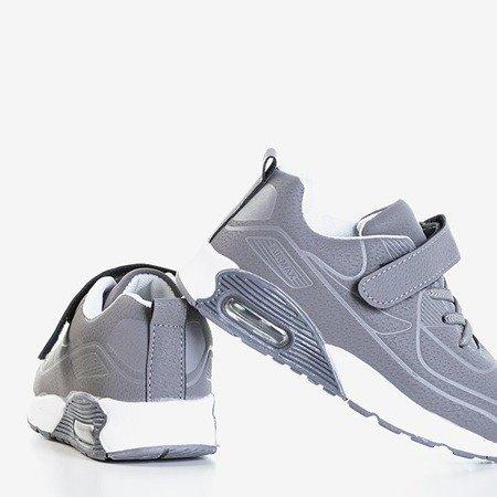 Szare dziecięce sportowe buty Grafia - Obuwie