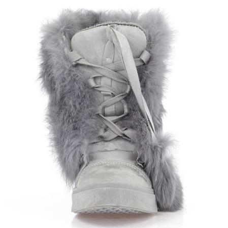 Szare sneakersy z futerkiem Majolela - Obuwie