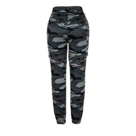 Szare spodnie dresowe moro - Spodnie