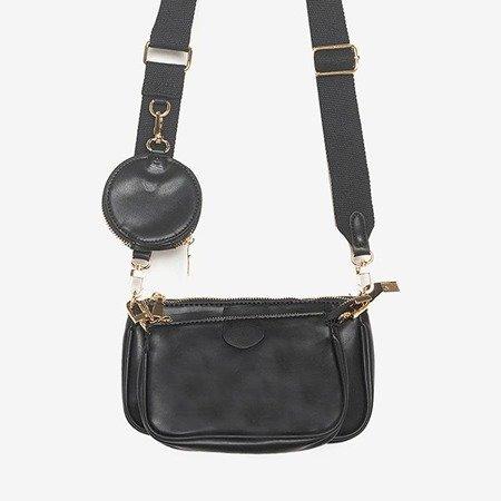 Trzyczęściowa mała torebka damska w kolorze czarnym - Torebki