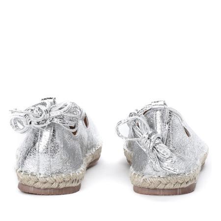 Wiązane espadryle w kolorze srebrnym Vinea - Obuwie