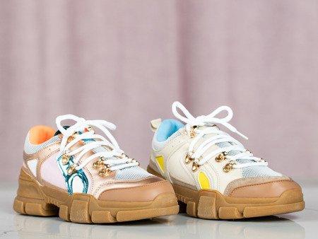Wielokolorowe buty sportowe na grubej podeszwie Olyssia - Obuwie