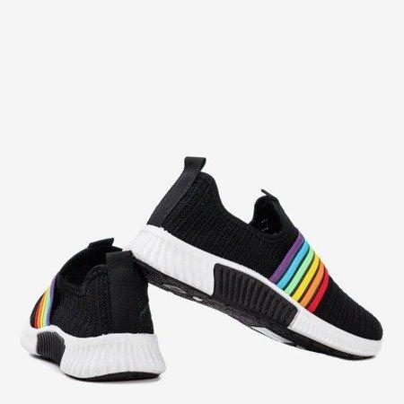 Wielokolorowe sportowe buty damskie typu slip - on Rainbow - Obuwie