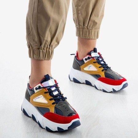 Wielokolorowe sportowe buty na platformie Magnetic - Obuwie