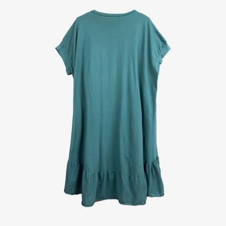 Zielona sukienka z czarnym napisem PLUS SIZE - Odzież