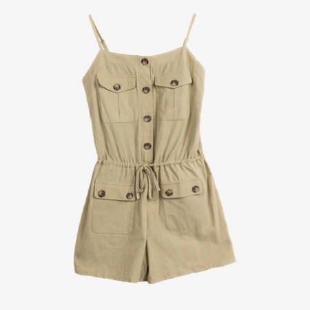 Zielony damski kombinezon krótki - Odzież