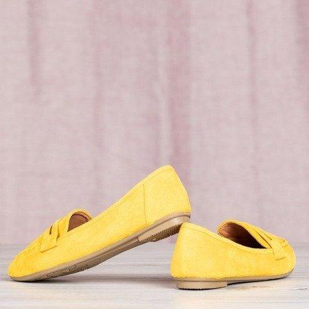 Żółte mokasyny Ifussa - Obuwie