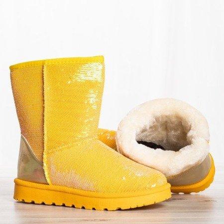 Żółte śniegowce z cekinami Sweet Mermaid - Obuwie