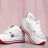 Białe buty sportowe na platformie Lexia - Obuwie