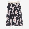 Czarna plisowana spódnica midi z nadrukiem w kwiaty - Odzież