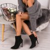 Czarne botki na szpilce Danielle - Obuwie