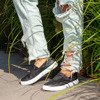 Czarne tenisówki typu slip on Malika - Obuwie