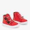 Czerwone dziecięce sportowe sneakersy z kokardkami Pantloye - Obuwie