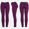 Fioletowe spodnie z wysokim stanem - Spodnie