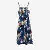 Granatowa sukienka na ramiączka - Odzież