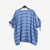 Niebieska tunika damska w paski - Odzież